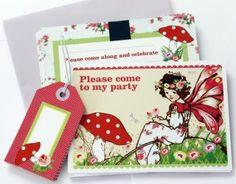 hardtofind > Girls Whimsical Fairy Garden Party Invitation Set (10)