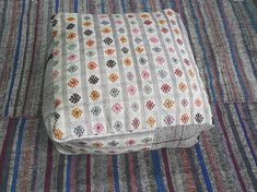 Kilim Pillow 2424inches Decorative Kilim Pouf