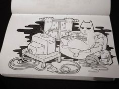 Misadventures of Ordinary Cats on Behance Cat Drawing, Behance, Cats, Drawings, Gatos, Sketches, Cat, Drawing, Kitty