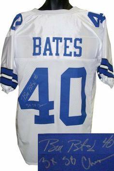 dda20bda132 Bill Bates signed Dallas Cowboys White Prostyle Jersey 3X SB Champs .  $217.17. Bill Bates