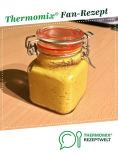 Homemade mustard (hot) from A Thermomix ® recipe from the Sauces / Dips / Spreads category www.de, the Thermomix ® community. Homemade Mustard, Sauces, Pesto, Dips, Gourmet Recipes, Cooking Tips, Mason Jars, Spicy, Tableware