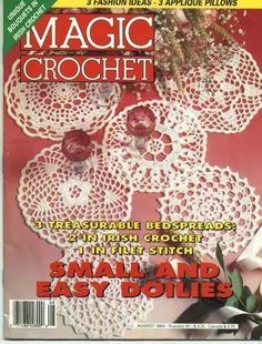 Artesanato com amor...by Lu Guimarães: Revista   Magic crochet 91  Completa