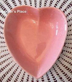 Pottery Barn Barbara Eigen Shabby Cottage Chic Heart Shape Dish Retired Mint #PotteryBarn