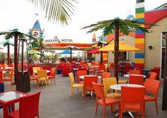 Café de l'hôtel Lego en Californie