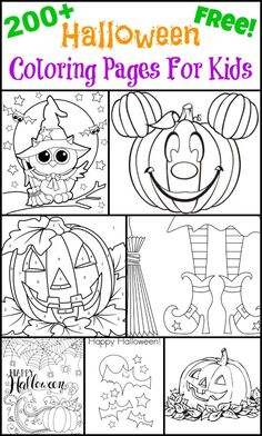 200 Free Halloween Coloring Pages For Kids - so fun for the kids especially if your having a Halloween party Looking for kids coloring pages? Get ready for Halloween with Free Halloween Coloring Pages For Kids, roundup of free printable coloring pages. Free Halloween Coloring Pages, Free Printable Coloring Pages, Coloring Pages For Kids, Coloring Books, Kids Coloring, Coloring Sheets, Coloring Letters, Free Coloring, Coloring Worksheets