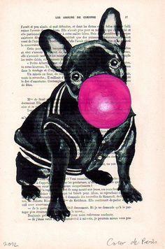 Resultado de imagem para french bulldog pop art
