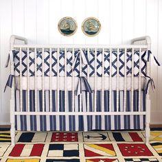 navy blue and white striped crib bumper - Google Search