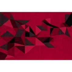 Tapis Pliages rouge opera by Toulemonde Bochart
