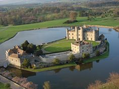 Leeds Castle nr Maidstone  So this is how it looks like from an aerial view :)