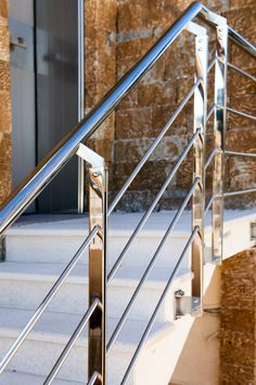 Inox Εξωτερικών Χώρων | Andos Glass Stairs, Glass, Projects, Home Decor, Log Projects, Stairway, Blue Prints, Decoration Home, Drinkware