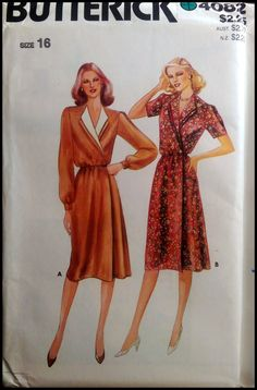 Butterick 4082 Misses' Dress Size 16 UNCUT by ThePatternShopp