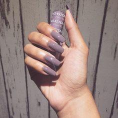 Gel polish colors, nail colors, dnd shellac colors, coffin nails, gel n Sexy Nails, Hot Nails, Hair And Nails, Perfect Nails, Gorgeous Nails, Pretty Nails, Fabulous Nails, Gel Polish Colors, Nail Colors