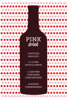 Pink Drink — that's pretty ace. Perfect for a Drink Pink breast cancer awareness party!