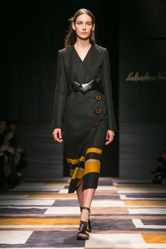A look from the Salvatore Ferragamo Fall 2015 RTW collection.