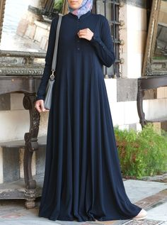Say salam to your new favorite abaya! Designed for ultimate comfort, the Shirtdr. - Abayas - New Color Burqa Designs, Abaya Designs, Mode Abaya, Mode Hijab, Hijab Style Dress, Abaya Style, Islamic Fashion, Muslim Fashion, Niqab Fashion