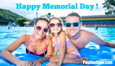 Countdown to Memorial Day Weekend - Only 1 day left! Check out our Memorial Day Savings On All Pool And Hot Tub Supplies! Save big on all chemicals and supplies this weekend only at PoolAndSpa.com! Pool Safety Net, Pool Chlorine, Spa Water, Happy Memorial Day, Around The Corner, Swimming, Hot Tubs, Memories, Spas