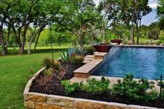 Let your imagination set the stage. Whether it's a formal setting, natural #environment, or a mixture of both, contact Trinity today. #SwimmingPool #Builders