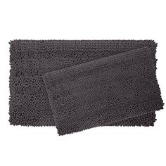 Bathroom Rugs Ideas | Laura Ashley Astor Striped Plush Chenille 2Piece Bath Mat Set Dark Grey *** You can get more details by clicking on the image. Note:It is Affiliate Link to Amazon.