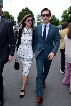 Sophie Hunter and Benedict Cumberbatch, Wimbledon men's finals, July 10, 2016