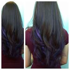 Black A Purple Highlights 3 Hair Pinterest Purple Highlights