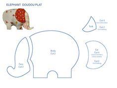 pattern of elephant for applique Elephant Quilt, Elephant Pattern, Quilt Baby, Sewing Toys, Baby Sewing, Easy Sewing Projects, Sewing Crafts, Applique Patterns, Sewing Patterns