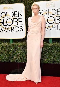 Golden Globes 2017 Gwendoline Christie in custom Vivienne Westwood