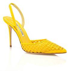 New Manolo Blahnik shoes - sandals. Spring/Summer 2014