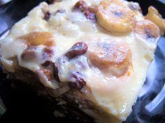 Sütés nélküli banános süti mazsolás rumaromás pudinggal Ice Cream, Eggs, Breakfast, Desserts, Food, No Churn Ice Cream, Morning Coffee, Tailgate Desserts, Postres
