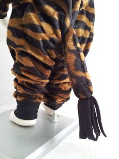 Child Size 2T/3 Chocolate Brown and Black Zebra Costume
