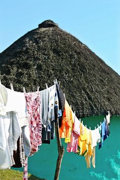 Laundry day on Coffee Bay, South Africa. ❣Julianne McPeters❣ no pin limits