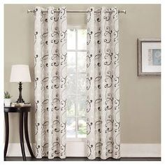 Sun Zero Summerland Thermal Lined Room Darkening Curtain Panel : Target