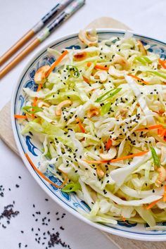 cabbage salad with roasted cashews