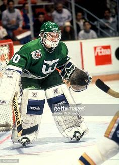 Hockey Goalie, Ice Hockey, Hartford Whalers, Sports Pictures, The St, St Louis, Nhl, Baseball Cards, Photos