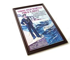 Vintage Nautical Decor 1917 US Navy WW I by OceansideCastle