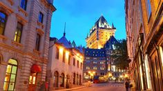 Bing Image Archive: Description: Chateau Frontenac at dusk in Quebec City (© Songquan Deng/Alamy Stock Photo)(Bing Canada)