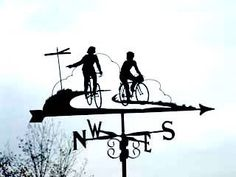 Cycle themed weathervanes from Urban Demographics'... - Rollers Instinct