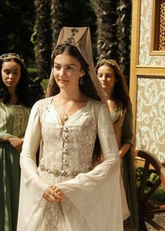 Mina Tuana Gunes, Turkish Actress. Scene from Magnificent Century TV series.