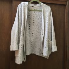 Free People Sweater Worn once! gorgeous and soft knit acrylic & wool blend. Size large can fit an oversized medium. Free People Sweaters Cardigans