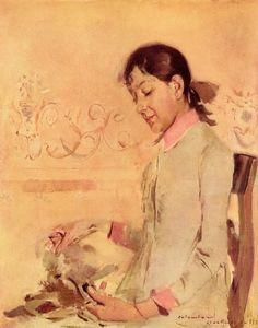 Portrait of Helena Pinheiro by Columbano Bordallo Pinheiro, 1886