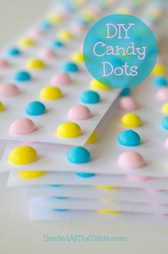 DIY Homemade Candy Dots by SeededAtTheTable.com