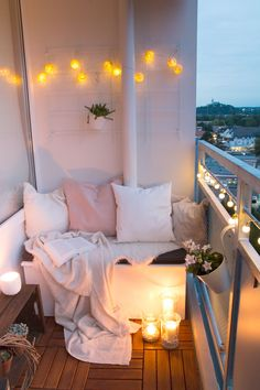 Would love to have a balcony with seating and lighting