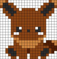 Baby Eevee Perler Bead Pattern / Bead Sprite