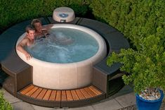 The name of this picture is Portable Hot Tub Design. It is actually just one of many marvelous visual samples in the post titled Benefits Of Owning An Outdoor Spa. Hot Tub Deck, Hot Tub Backyard, Best Inflatable Hot Tub, Lazy Spa, Chillout Zone, Hot Tub Surround, Outdoor Tub, Hot Tub Garden, Hot Tubs