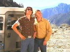 Randolph Mantooth and Kevin Tighe as Johnny and Roy...on a fishing trip.