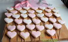 Şeker Glazürlü ( Royal Icing ) Kurabiye Tarifi   Resimli Yemek Tarifleri Hayalimdeki Yemekler Cookie Bars, Bar Cookies, Pasta Dishes, Cookie Recipes, Recipies, Sugar, Fancy, Sweet, Desserts