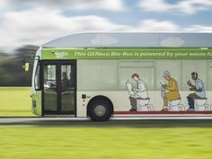 """Poop bus fueled by human waste. A """"Bio-Bus"""" that runs solely on the biomethane gas generated by treated waste (of the food and human variety) is up and running as of this week in the UK, where it's following a Bristol-to-Bath route."""
