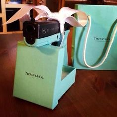 Tiffany Blue Glock with safety button. Beautiful feminine self protection.