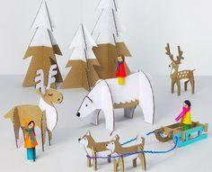 Pour Noël, vous pouvez décorer vos tables avec ces superbes figurines en 3D à monter chez vous ! Des animaux du cercle polaire aux sapins et au traineau, vous avez le choix. En plus, c'est une superbe activité à réaliser avec les enfants ! Il vous faudra : Du carton Des ciseaux De la peinture …                                                                                                                                                                                 Plus