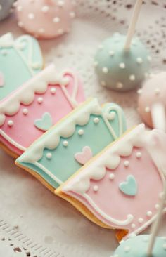 Tea Time Decorated Cookies