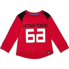 Mini boys red Tokyo 66 print t-shirt �9.00